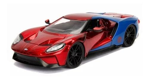 metals die cast spiderman & 2017 ford gt auto muñeco jada