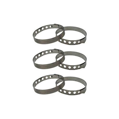 metaltex 6 piezas roulades anillos, multicolo + envio gratis