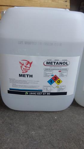 metanol 99% de pureza garrafa 20 lts  para preparar biodiese