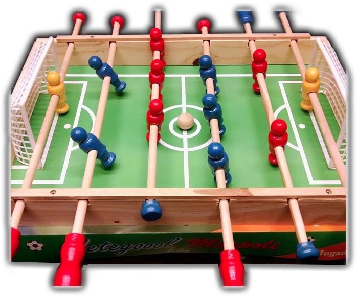 Metegol De Madera 12 Jugadores Juego De Mesa Futbol En Caja 480