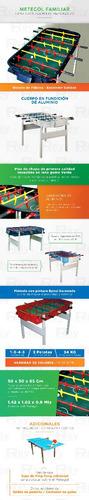 metegol profesional clasico familar de fabrica aluminio