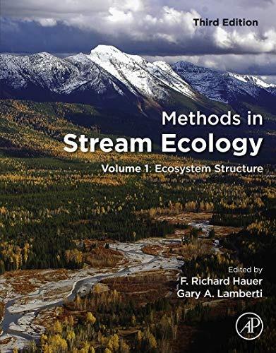 methods in stream ecology, tercera edición: volumen 1: