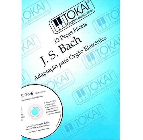 método j. s. bach 12 peças fáceis tokai c/ pedaleira