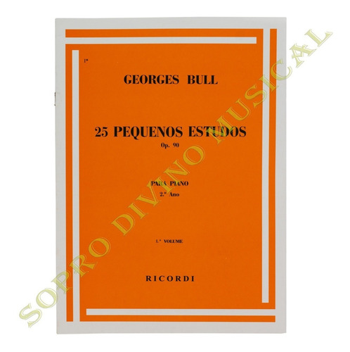 método piano george bull 25 pequenos estudos op. 90