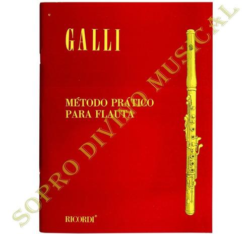 método prático flauta transversal galli ricordi