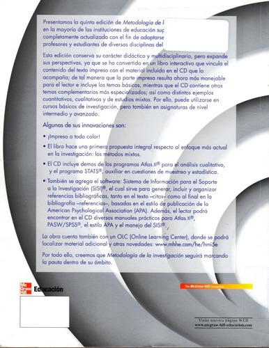 metodología de la investigación 5 edición + cd  envío gratis