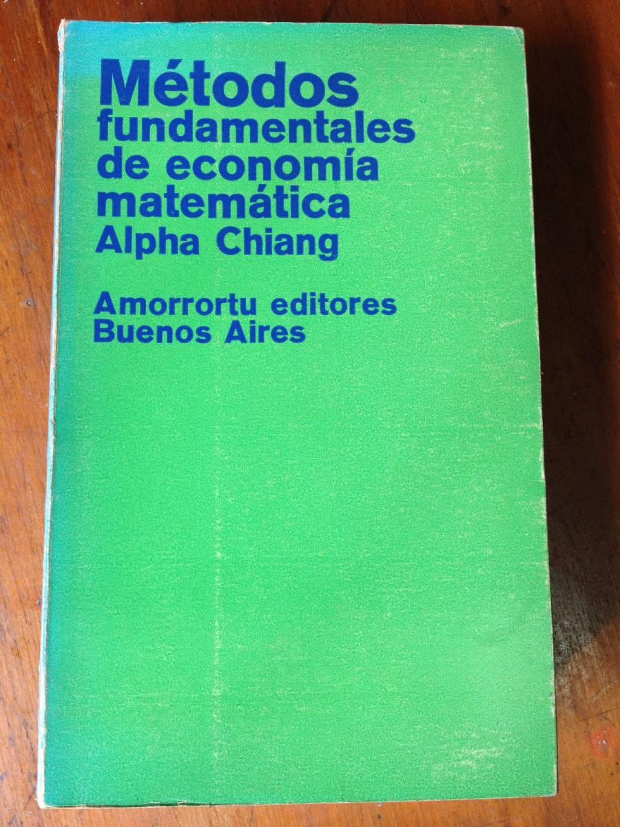 alpha chiang metodos fundamentales de economia matematica pdf