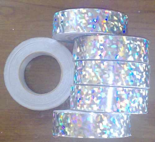 Metro cinta holografica color plata para decoraciones - Decoraciones en color plata ...