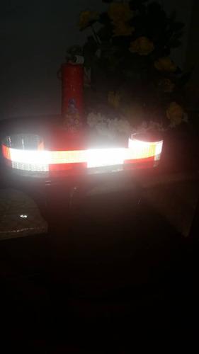 metro de cinta reflectiva diamante rojo blanco