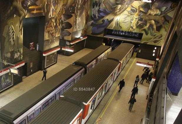 metro universidad de chile, (2d / 2b)