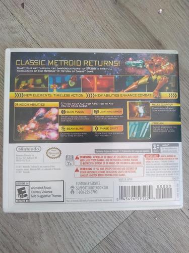 metroid samus returns nintendo 3ds fisico