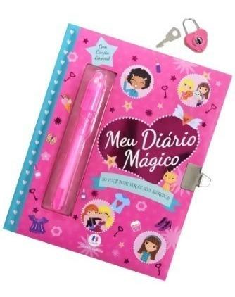 meu diario magico com caneta invisivel e cadeado
