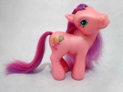 meu querido pônei rosa cor lilás & rosa c/ pipa & borboleta