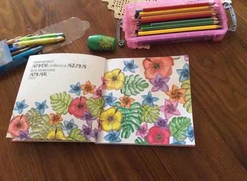 meu refúgio perfeito belezas p/ colorir e frases p/ inspirar
