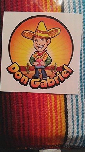 Don Gabriel COMINHKPR141503 Mexican Table Runner Large 72x14 Saltillo Serape Colorful Striped Sarape Tablerunner Black