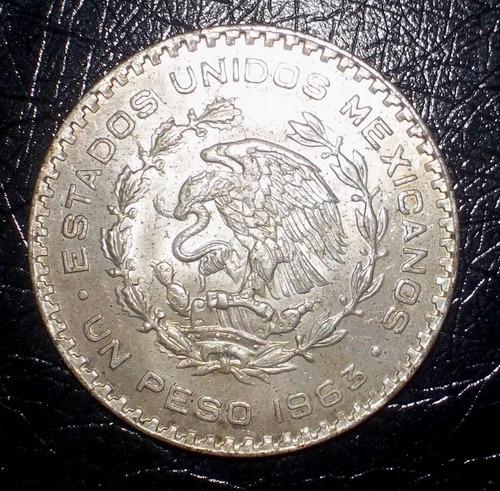 mexico, 1 peso 1963 (plata baja)