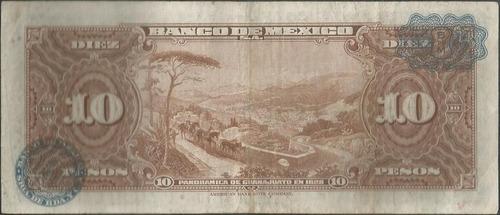 mexico, 10 pesos 8 nov 1961 serie lc p58i