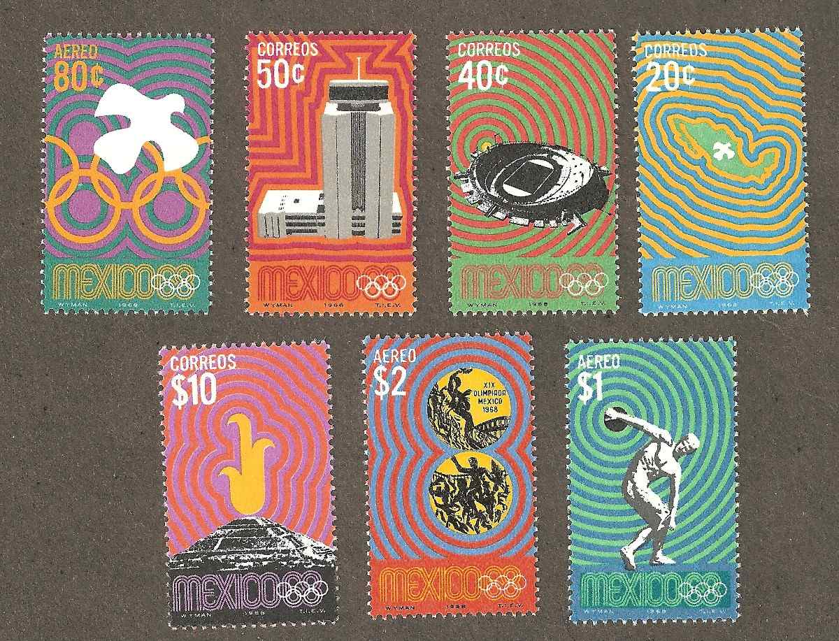 Mexico 1968 Juegos Olimpicos 170 00 En Mercado Libre