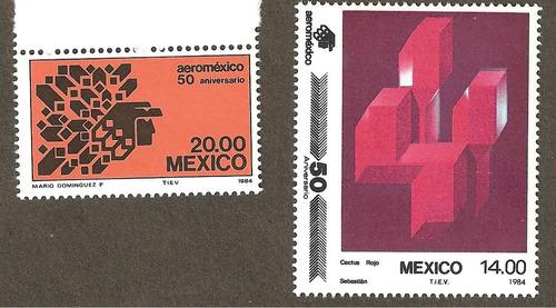 mexico 1984 aniversario de aeromexico , serie mnh