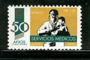 mexico 1993 50 años cumpliendo imss servicios mint nh