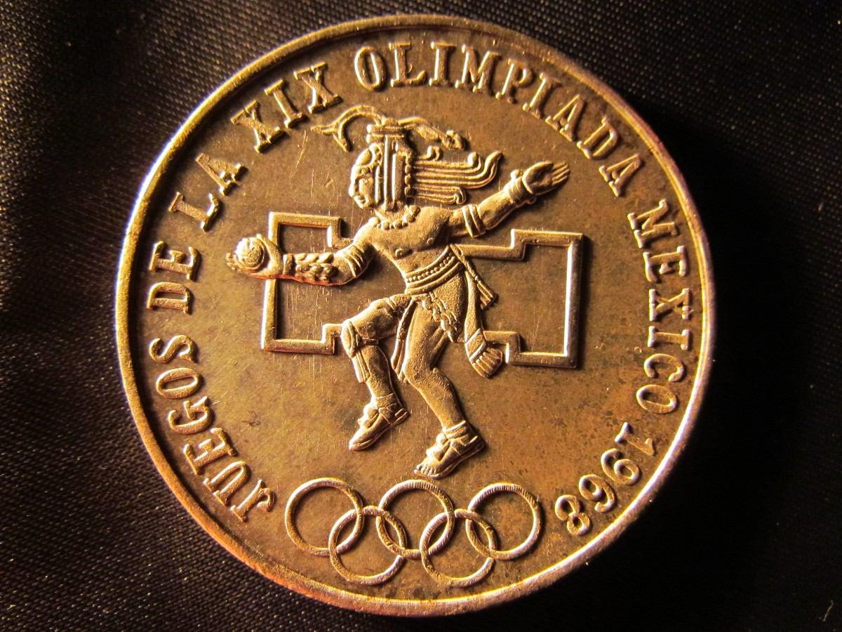 Mexico 25 Pesos 1968 Juegos Olimpicos Plata 0 720 3 7 Cms 35 000