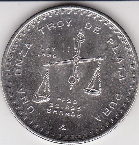 méxico, antigua moneda conmemorativa  1 onza plata 1.979