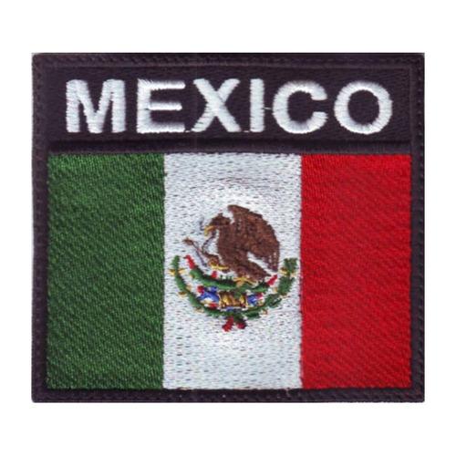 mexico bandera parche bordado escudo militar tactico
