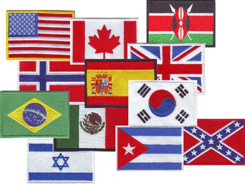 mexico bandera parche bordado militar gotcha tactico