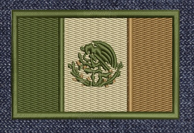 mexico banderas acu parches bordados tacticos gotcha