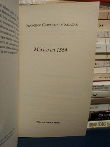 méxico en 1554. francisco cervantes de salazar.