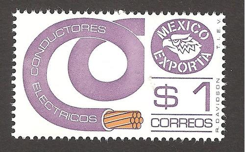 mexico exporta  1 peso  6xta serie mint nh