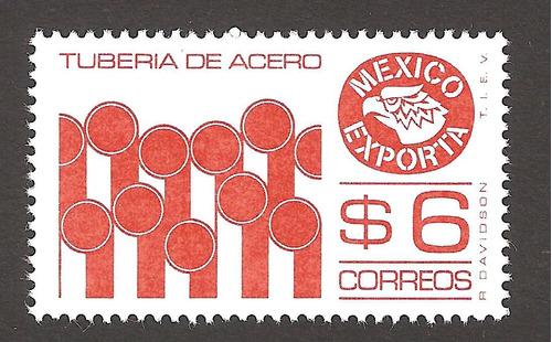 mexico exporta  6 pesos tuberia 6xta serie  perf 14  mnh