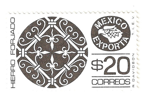 méxico exporta hierro forjado $20.00 segunda serie mint nh
