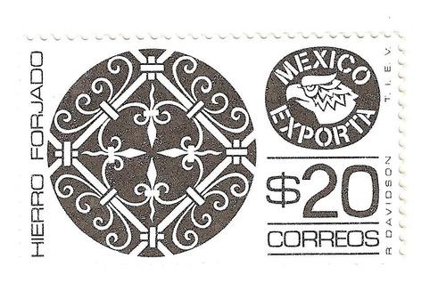 méxico exporta hierro forjado $20.00 segunda serie nuev