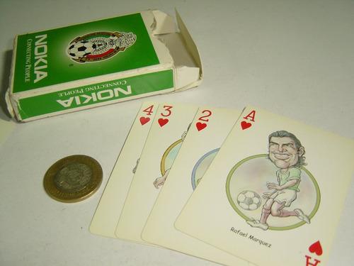 méxico selección de futbol baraja naipes mazo de cartas