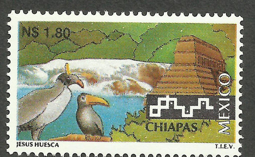 méxico turistico chiapas n$1.80 nueva