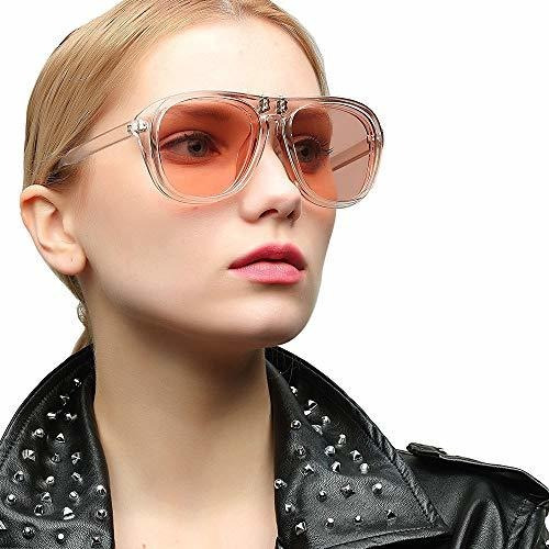 meyison oversized retro clip-on flip up square aviator gafas
