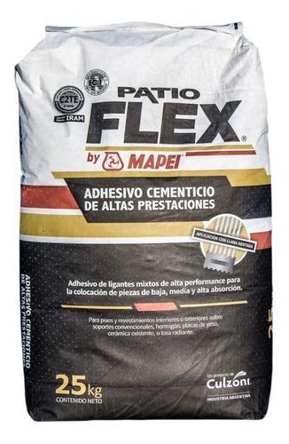 mezcla adhesiva patio flex by mapei por 25 kilos