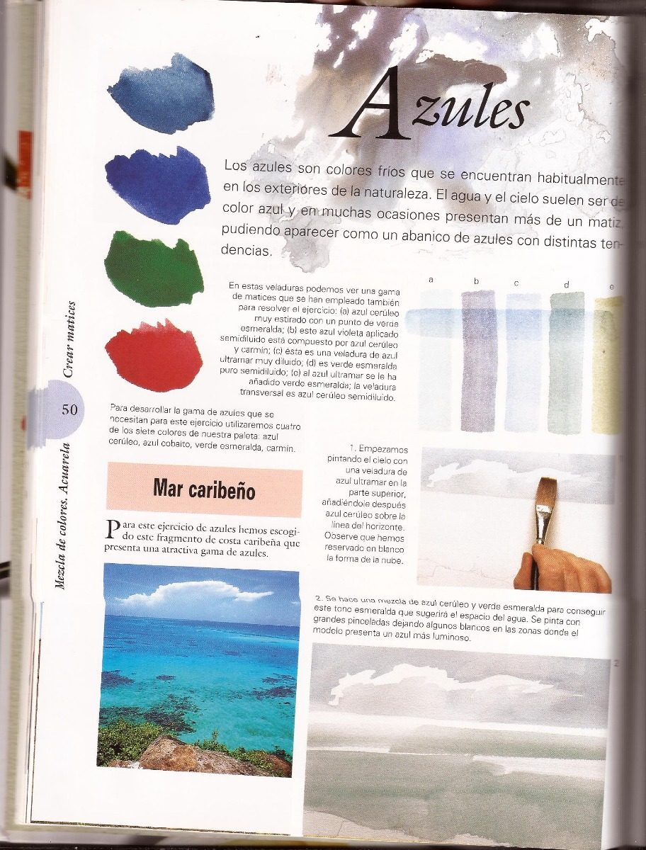 Mezcla de colores acuarela para empezar a pintar libro - Mezcla de colores para pintar ...