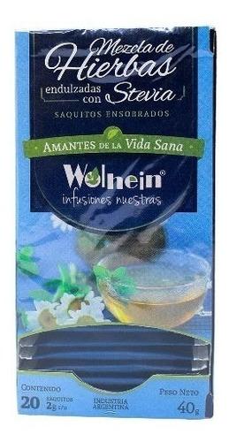 mezcla de hierbas endulzada con stevia  wolhein  infusiones