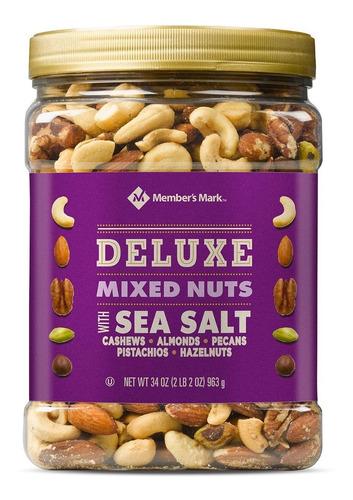 mezcla de nueces deluxe member's mark con sal marina