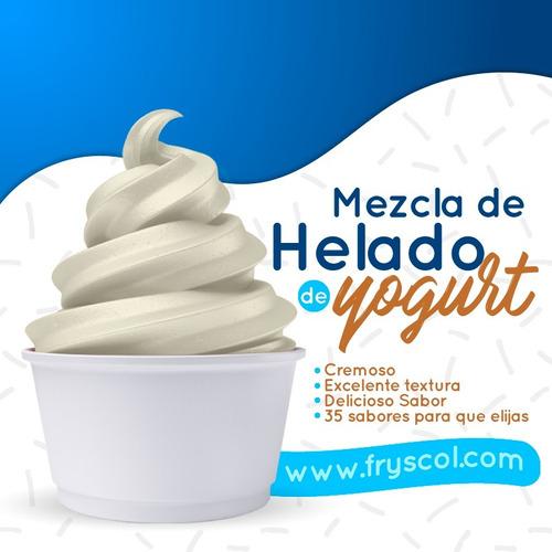 mezcla helado suave y yogurt frozen fryscol