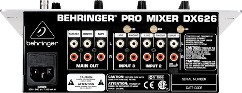 mezclador behringer dx626