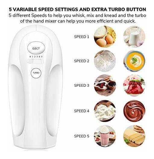 Hand Mixer Electric 5 Speed Handheld Kitchen Mixer with Turbo ...