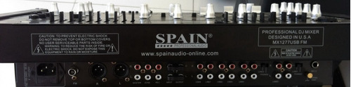 mezclador spain mx 1277 usb 8 canales