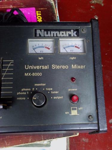mezclador universal stereo mixer numark mx 8000