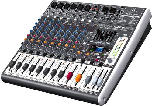 mezcladora 16 entradas x1222usb behringer interface usb