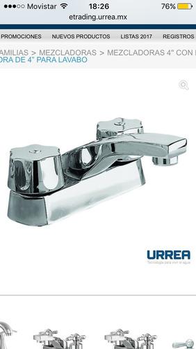 mezcladora 4 pulgadas urrea lavabo