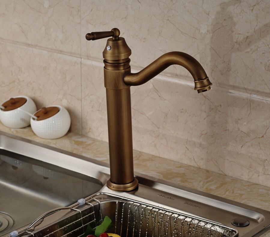 Mezcladora Antigua Monomando Grifo Cocina Baño Bronce - $ 1,799.00 ...