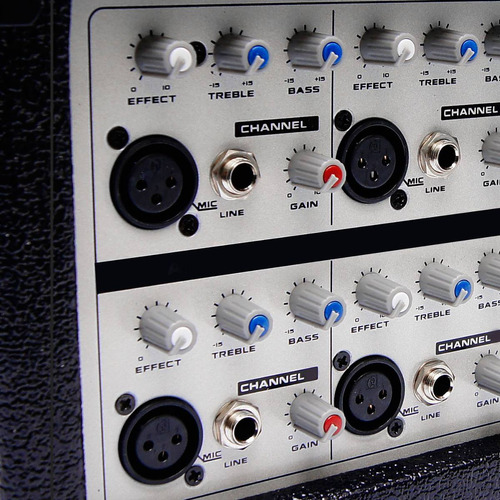 mezcladora audiobahn amplificada 6ch display 300 w rms xaris